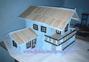 Kreasi Miniatur Rumah Dari Stik Es Krim Ramdadi